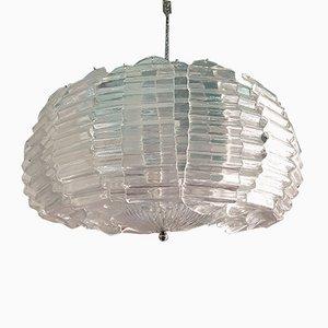 Lámpara de araña muy grande de cristal de Murano de Ercole Barovier para Barovier & Toso, años 70