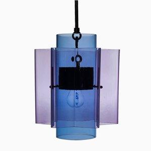 Lampadario Petrona a stella in vetro viola e blu di Fred&Juul