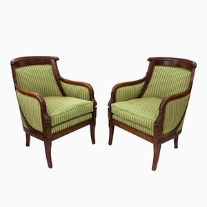 Antique Empire Chairs, Set of 2