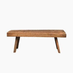 Vintage Oak Butcher's Block Coffee Table or Bench, 1930s