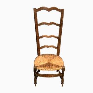 Stuhl mit hoher Rückenlehne aus 19. Jh.