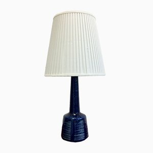 Dänische Vintage Tischlampe aus blauer Keramik von Esben Klint für Palshus