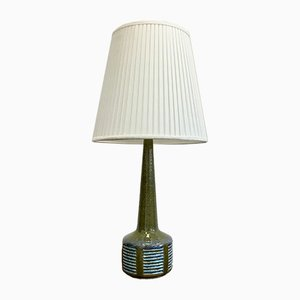 Lampada da tavolo Mid-Century in ceramica verde di Per Linnemann-Schmidt per Palshus
