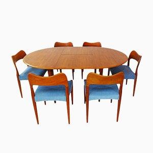 Danish Mid-Century Teak Dining Set by Arne Hovmand Olsen for Mogens Kold