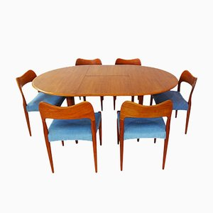 Set da pranzo Mid-Century in teak di Arne Hovmand Olsen per Mogens Kold