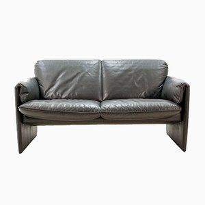 Vintage Bora Loveseat in Anthracite Leather from Leolux, 1995