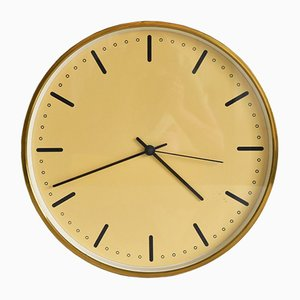 City Hall Brass Wall Clock by Arne Jacobsen, 1956