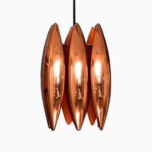 Model Kastor Copper Pendant by Johannes Hammerborg for Fog & Mørup, 1960s