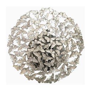 Weiße Johnnie Bronze Wachsausschmelz Schmetterling Wandleuchte von Fred&Juul