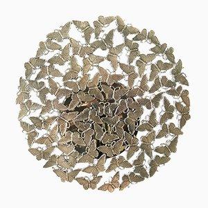 Applique Murale Johnnie avec Papillons en Bronze Moulé à la Cire Perdue par Fred & Juul