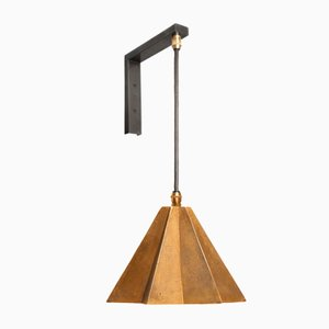 Raffaele Star-Shaped Wall Bracket Light in Sand Cast Brass by Fred&Juul