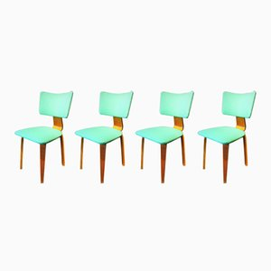 Plywood Chairs by Cors Alons for Gouda Den Boer, 1950s, Set of 4