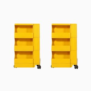 Vintage Yellow Boby Trolley with 3 Drawers by Joe Colombo, 1970s