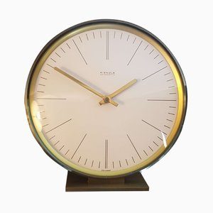 Brass Table Clock from Kienzle International, 1950s
