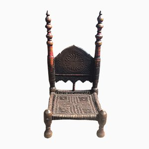 Antique Handmade Afghan Chair