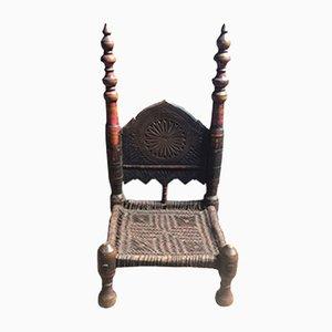 Silla afgana antigua hecha a mano