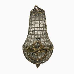 Italienische Vintage Kristall Tropfen Wandleuchten, 2er Set
