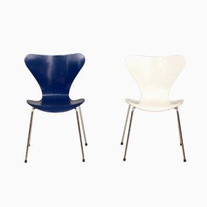 Chaises 3107 par Arne Jacobsen pour Fritz Hansen, 1980s, Set de 2