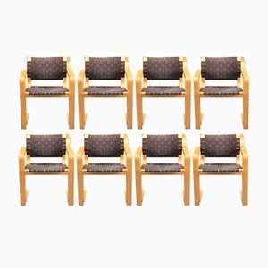 Braided Chairs by Rud Thygesen & Johnny Sørense for Magnus Olesen, 1950s, Set of 8
