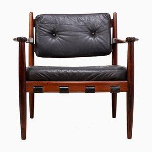 Cadett Palisander Sessel von Eric Merthen für RE Möbler Skillingary, 1960er