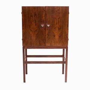 Rosewood Bar Cabinet by Kurt Østervig for KP Mobler, 1960s