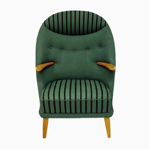 Danish Green Model 53 Armchair by Kurt Østervig for Rolschau, 1950s