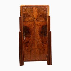 Art Deco Walnut Cabinet, 1930s
