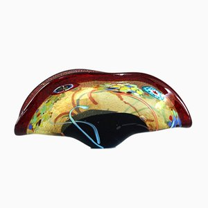 Large Multicolored Murano Glass Bowl from AVEM, 1950s