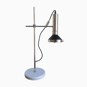Mid-Century Italian Chrome & Marble Desk Lamp, 1960s
