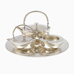 Functionalist Silver Plated Tea Set, 1930s