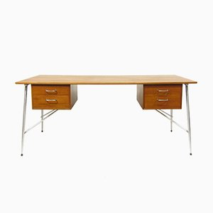 Danish Teak Desk by Børge Mogensen for Søborg Møbelfabrik, 1960s
