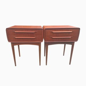 Teak Two-Drawer Bedside Tables by Johannes Andersen for CFC Silkeborg, 1960s, Set of 2