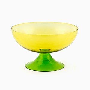 Große Cuppone Tasse aus geblasenem Glas in Gelb von Aldo Cibic für Paola C.