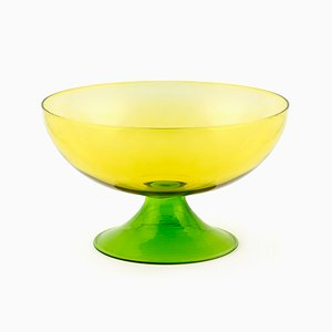 Large Cuppone Blown Glass Cup in Yellow by Aldo Cibic for Paola C.