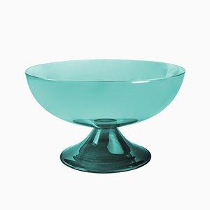 Coppa grande Cuppone in vetro soffiato verde di Aldo Cibic per Paola C.