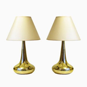 Orient Table Lamps by Jo Hammerborg for Fog & Mørup, 1970s, Set of 2