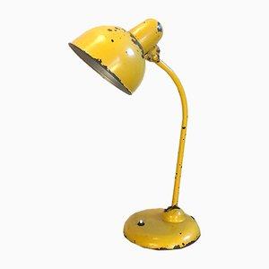 Industrielle gelbe Vintage Schreibtischlampe, 1950er