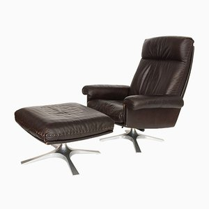 DS 31 Swivel Lounge Chair & Ottoman from de Sede, 1970s