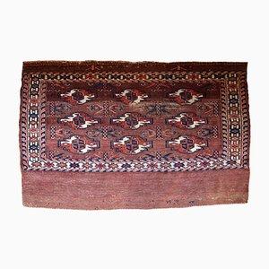 Alfombra Yomud turkmena antigua hecha a mano, década de 1880