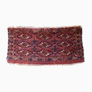 Alfombra Torba Tekke turkmena antigua hecha a mano, década de 1860
