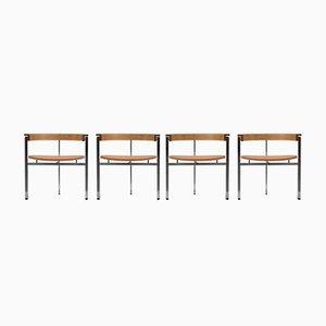 PK11 Stühle von Poul Kjaerholm, 1950er, 4er Set