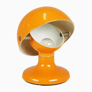 Lampada da tavolo in metallo arancione di Tobia & Afra Scarpa per Flos, anni '60
