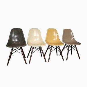 Chaises DSW Vintage en Fibres de Marbre par Charles & Ray Eames pour Herman Miller, Set de 4