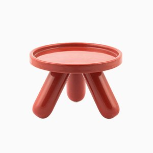 Base Gambino pequeña de cerámica en rojo de Aldo Cibic para Paola C.