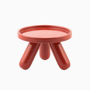 Piedistallo piccolo Gambino in ceramica rossa di Aldo Cibic per Paola C.