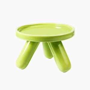 Piedistallo piccolo Gambino in ceramica verde di Aldo Cibic per Paola C.