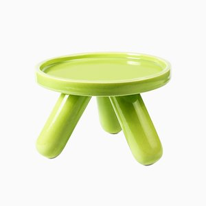Small Gambino Ceramic Riser in Green by Aldo Cibic for Paola C.