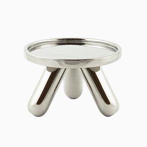 Piedistallo piccolo Gambino in ceramica color platino di Aldo Cibic per Paola C.