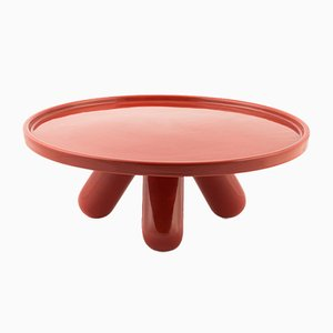 Large Gambone Ceramic Riser in Red by Aldo Cibic for Paola C.