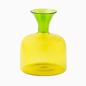 Karaffina piccola in vetro soffiato giallo di Aldo Cibic per Paola C.